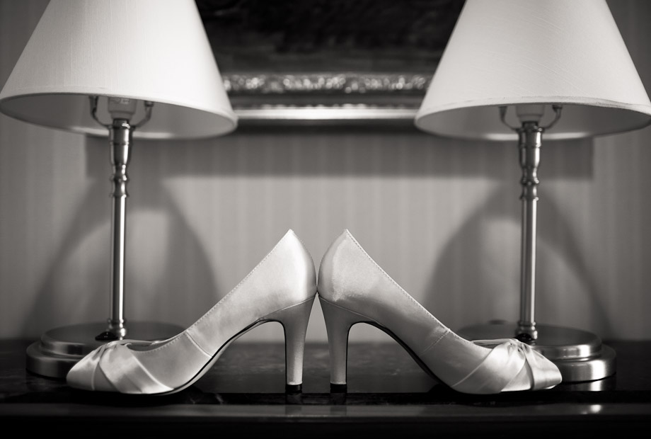 classic wedding shoes photography