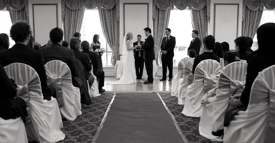 bride groom wedding ceremony exchanging vows marriott hotel brisbane