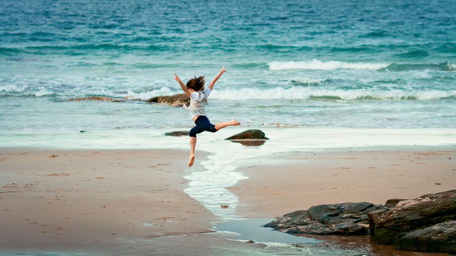little dancer portrait alex heads beach sunshine coast photography