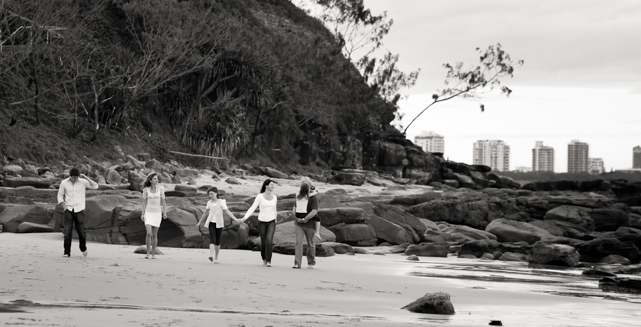 happy family walking on beach portrait alex heads sunshine coast photography