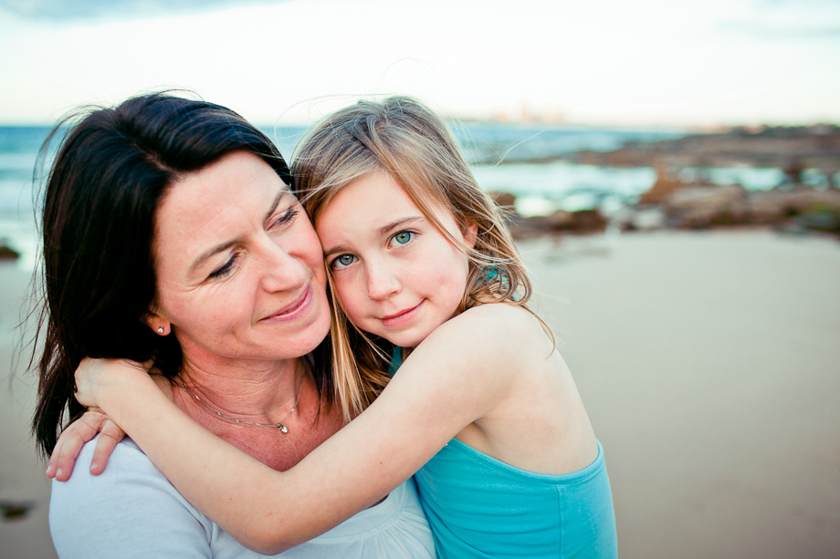mother and daughter portrait alexandra headlands sunshine coast photography